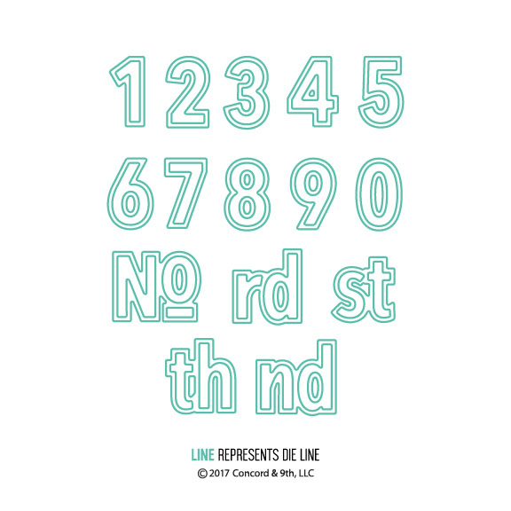 【コンコード&ナインス/CONCORD & 9TH】Double-Cut Alphabet Numbers