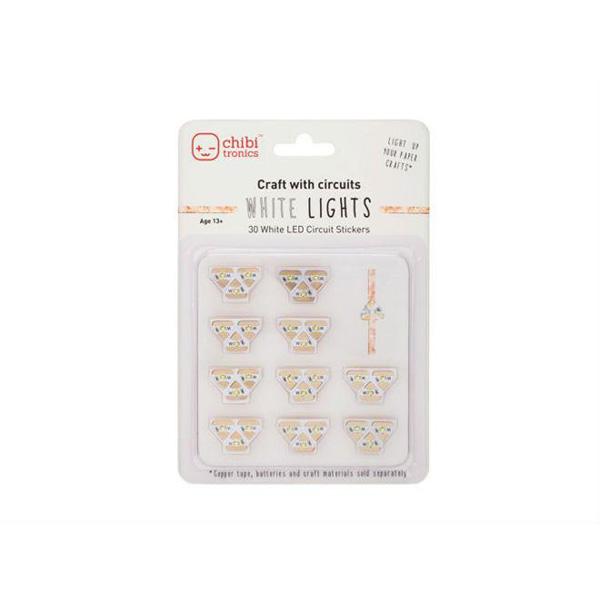 【chibitronics/チビトロニクス】 LEDステッカーWHITE LIGHTS(ホワイト)
